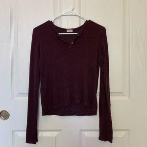 maroon knit long sleeve
